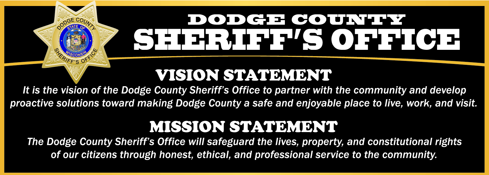 core values mission statement vision statement dodge county wi