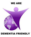 we are dementia friendly purple angel logo